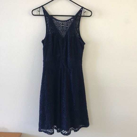Dark Navy Blue Bcx Lace Dress